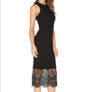 Cinq a Sept Hestia Lace hem dress
